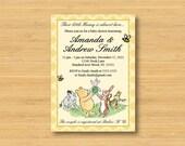 Classic Winnie the Pooh Baby Shower Invitation - Printable - Book Shower Gender Neutral Vintage