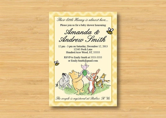 Classic Winnie The Pooh Baby Shower Invitations can inspire you to create best invitation template
