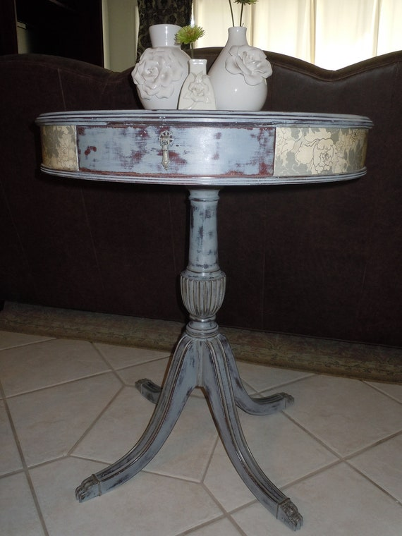 Vintage Mahogany Accent  Table - hand painted in Annie Sloan chalk paint