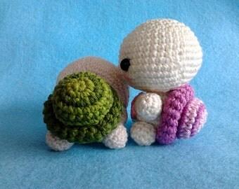 Crocheted Baby Turtle Amigurumi PDF Pattern, Valentine