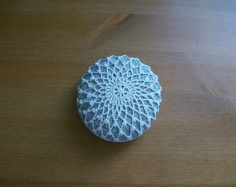 Crochet covered sea stone no:3 handmade by Arzu