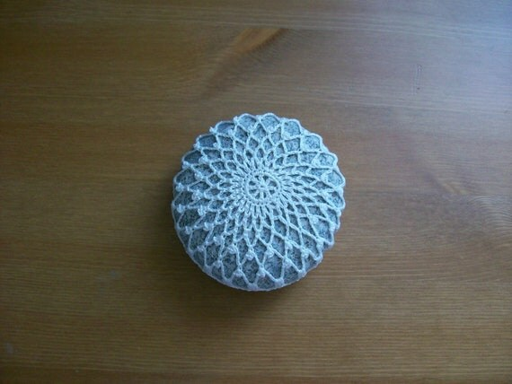 Crochet covered sea stone no:3 handmade by Arzu