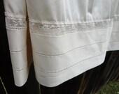 Sheer Cream Lace Slip Ribbon Detail