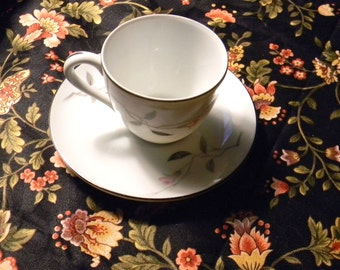 China Demi Tas Cup & Saucer  - Cherry Blossom Fine China