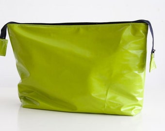 Toiletry Bag Water Resistant in  beautiful Chartreus color