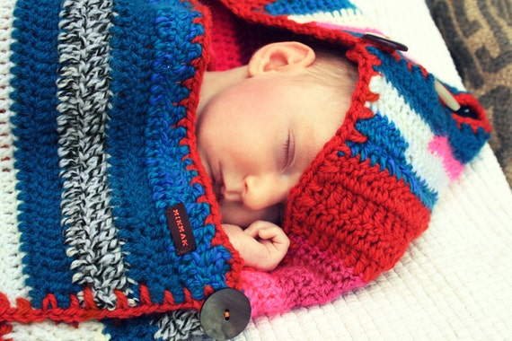 SLEEP SACK for baby crocheted and  striped