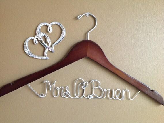 Bridal Hanger one Line, Personalized Custom Bridal Hanger, Brides Hanger, Bride, Name Hanger, Wedding Hanger, Personalized Bridal Gift