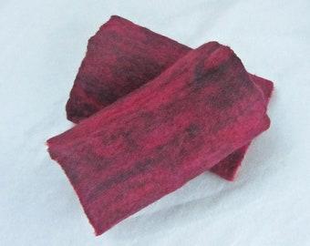 Filzstulpen, Armstulpen, rot meliert, 100% Wolle, ca. 17 cm x 9,5 cm (Größe m), gefilzt