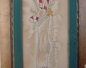 Primitive Stitchery Stockings Were Hung CWWOFG-- Holiday, Christmas Decor, Gift