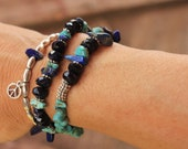 Eclectic Peace Charm Stretch Bracelet