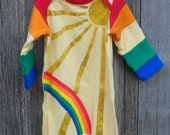 """0-3 month Unisex Infant Diaper Gown in """"You Are My Sunshine"""""""