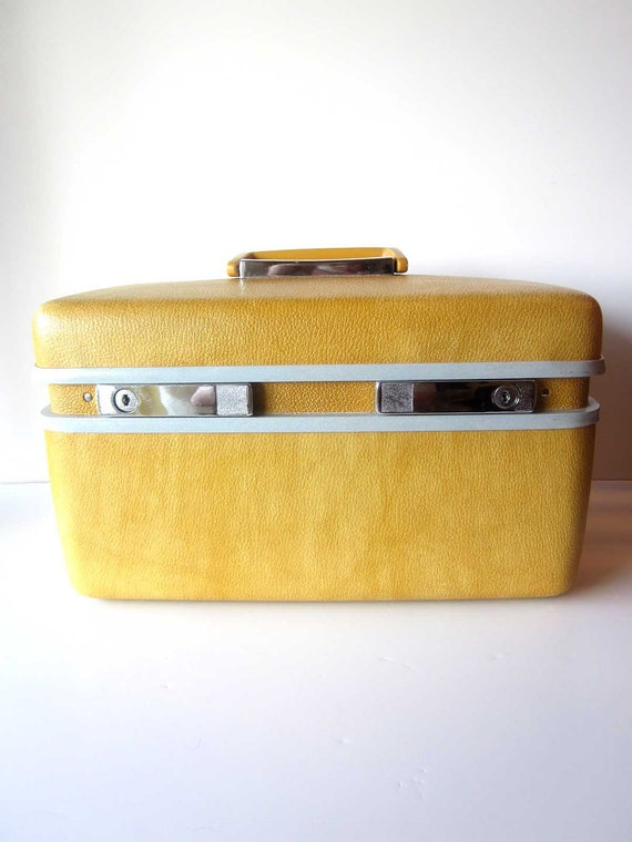 Samsonite Train Case-Vintage Luggage-Gold