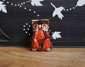 What a Hoot... Vintage Halloween Tin Noisemaker  - Owl Clicker, US Metal Toy