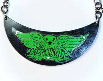 Reycled Aerosmith cd necklace