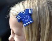 Hockey Hair Clip...Toronto Maple Leafs Hair Clip...Toddler Clip..Baby Clip....Teen Hair Clip