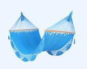 Light Blue Hammock, Handwoven Nicaraguan Hammock - veronicacolindres
