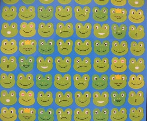 Japan Kawaii FROG Stickers Sheet