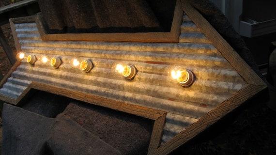 Items similar to arrow light corrugated galvanized tin for Old barn tin ideas