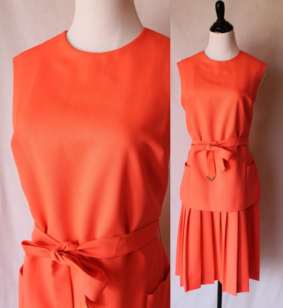 CLEARANCE 60s Peach S. Eisenburg Vintage Dress