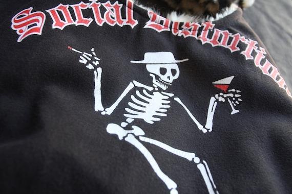Social Distortion - Upcycled Rock Band T-shirt Purse - OOAK
