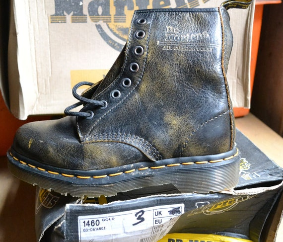 Gold 1460 Distressed Doc Marten Boots UK SIZE 4