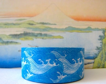 """SALE Washi Tape """"SHIRO NAMI""""   20mm x 10 Meter Roll"""