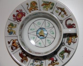 Vintage Fortune Telling Zodiac Cup & Saucer