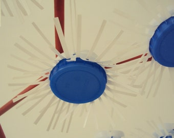 Upcycled Christmas Tree Decor Ornament - Snowflake