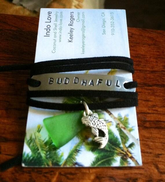 Buddhaful Hand Stamped Bracelet