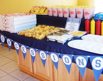 Sports Party Concessions Banner