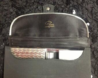 Vintage Art Deco 1940's silver pocket purse
