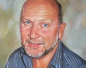 Custom portrait from photo/ Portrait painting/ Hand painted portrait. Pastel portrait from your photography. Father Day gift/ Personalised