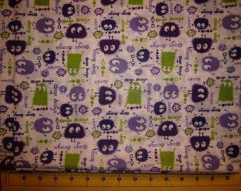 "20"" x 20"" PUL Diaper Cut - Ooga Booga Purple and Lime"