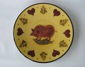 Pig & Heart Pattern Plate