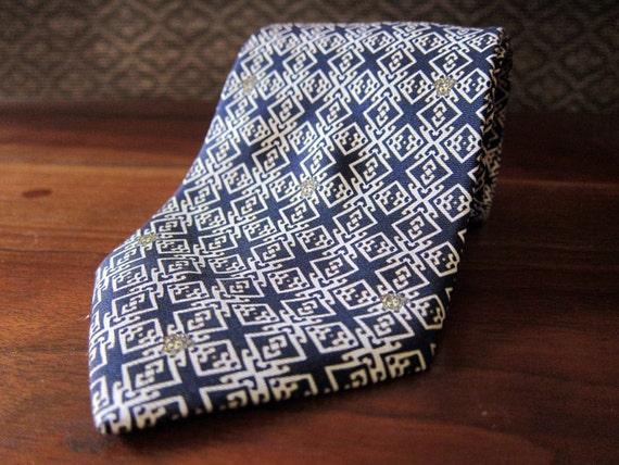 Silk Tie Silk - Mens Tie Silk - Paisley Tie - Mens Silk Tie - Versace Tie - Retro Tie - MidCentury Tie - Mid-Century Tie