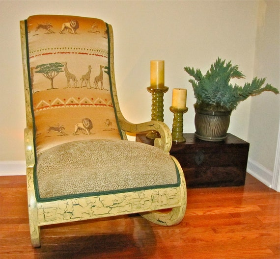 Antique Walnut Nursing Chair Redesigned