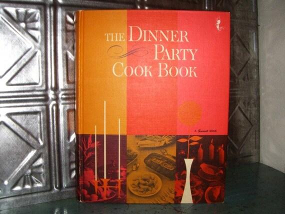 Vintage Sunset Cookbook, 1960s, Dinner Party, Hostess, Menu Planning