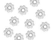 500pcs 4mm Silver Daisy Spacer Beads CHOOSE 4mm or 5mm & CHOOSE FINISH Lead/Nickel Free Diy Jewelry Making Suppllies Free Combined Shipping