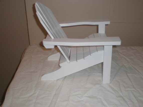 "Adirondack chair an table set doll furniture for American girl doll an other 18"" dolls."