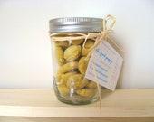 Mason Jar of Treats - Organic Dog Treats - Gourmet Dog Biscuits - Pumpkin Harvest - 5 oz - Small Dog Treats / Training Treats