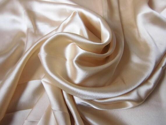 Indian Fabric: Pale Gold Satin Fabric India Fat Quarter
