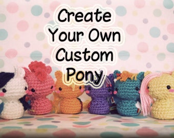 Amigurumi Mini Pony : Crochet Derpy Hooves My Little Pony Amigurumi Toy