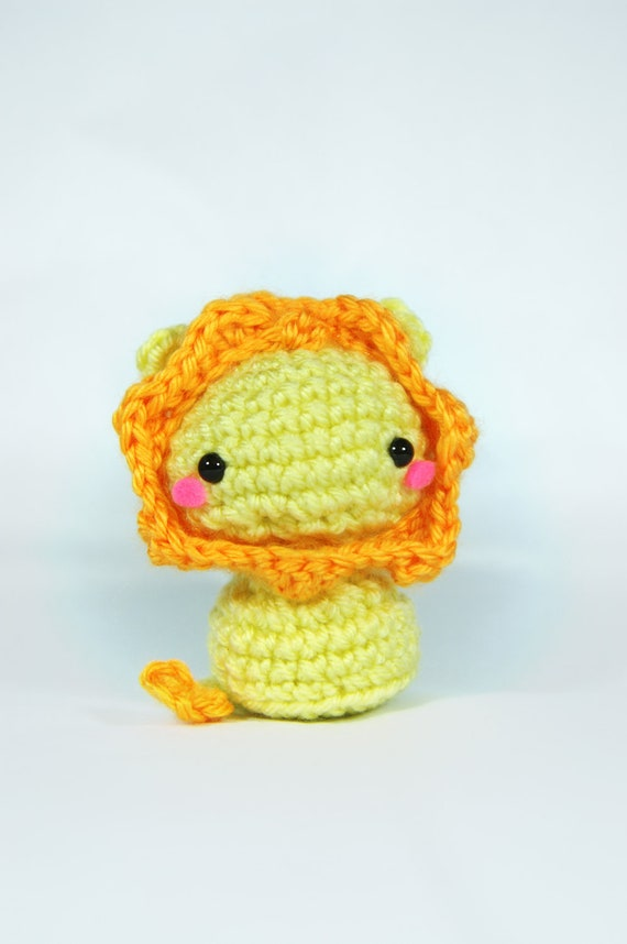 Little Amigurumi Lion : Crochet Leon the Lion Amigurumi Lion Toy Lion Plush Handmade