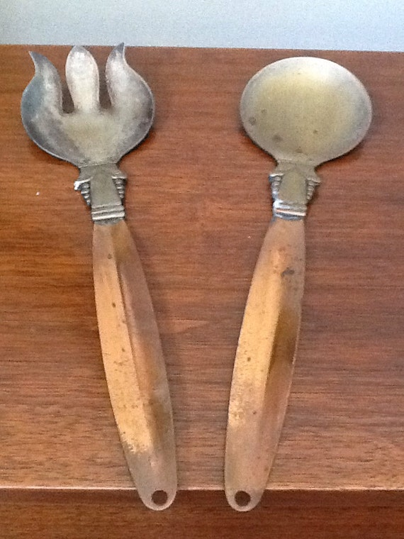 Vintage Metal Spoon And Fork Wall Decor