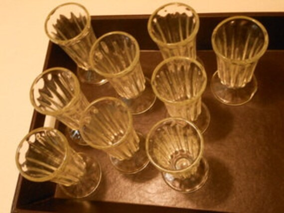 Vintage 1950's Cordial Glasses or Soda Fountain - Mimosas, Ice Cream Sundaes, or Parfait Delights