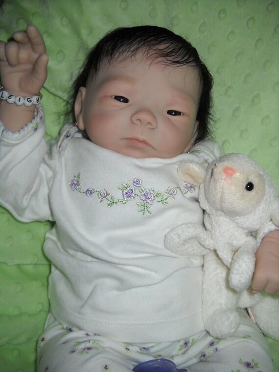 "reborn baby girl ""Kameko sculpt"" now LEIGH....... needs a mommy..................."