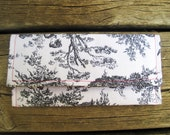 """The """"Chenonceau"""" Toile Print Clutch"""