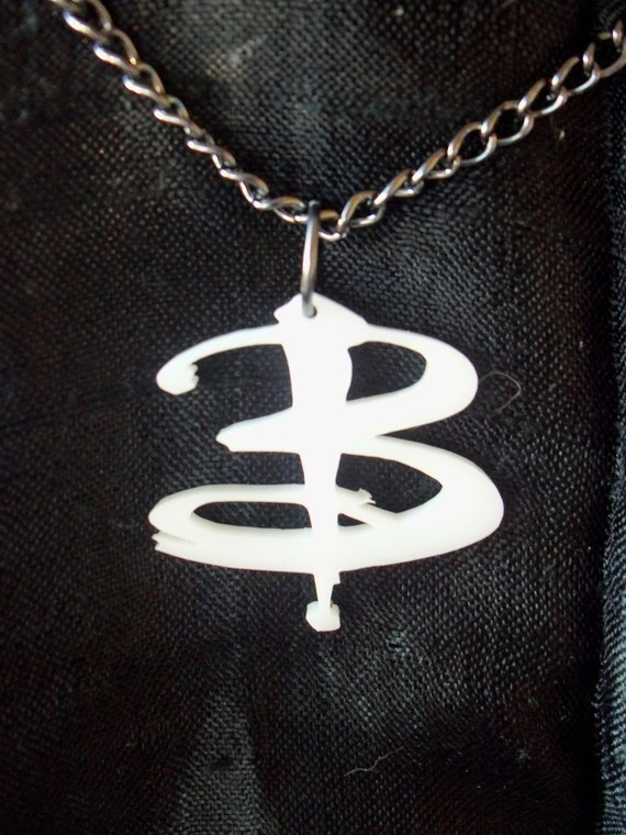 Small white Buffy B necklace