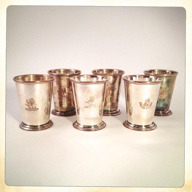 Vintage Cup New 273 Vintage Silver Mint Julep Cups
