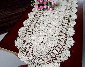 """Crochet  Table runner  40X190CM (16x75"""")"""